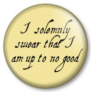 I solemnly swear that I am up to no good Pinback Button Badge Harry Potter Marauder's Map